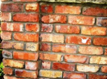 Brick Wall Display with Decorative Features (including '1963' and pillar)