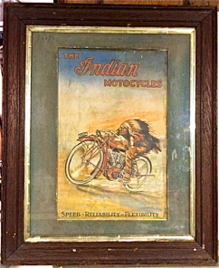 Genuine Indian Motorcycle Framed Poster