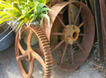 Antique Cast Iron Mill Wheels